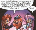 Knuckles getting flirted with