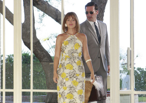 Laura & Jon Hamm in Mad Men