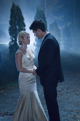 Laura Ramsey fond d'écran with a business suit called Laura & Steven Strait in The Covenant