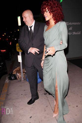 Leaving Giorgio Baldi Restaurant in L.A.11/21/10