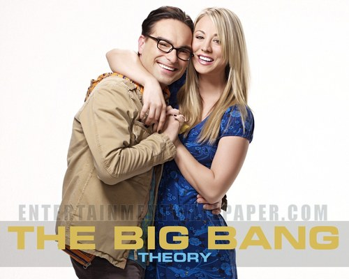 The Big Bang Theory wallpaper probably with a well dressed person and a cocktail dress titled Leonard and Penny