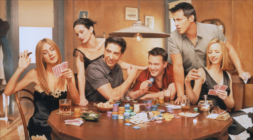 Matt LeBlanc with Matthew Perry, Courteney Cox, Jennifer Aniston, Lisa Kudrow, and David Schwimmer