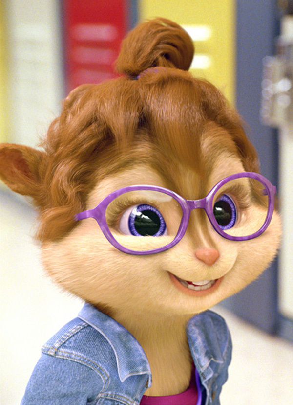 Girl Chipmunk With Glasses