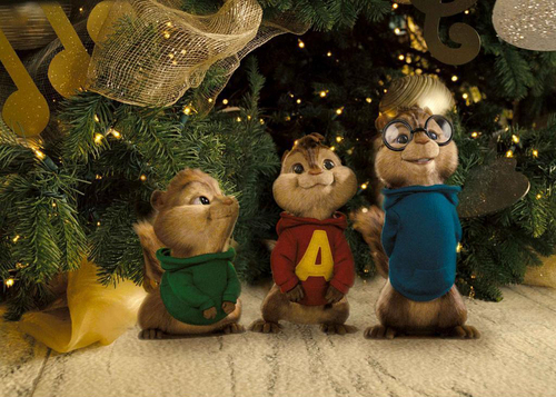 Merry 크리스마스 to Alvin,Simon,and Thedore