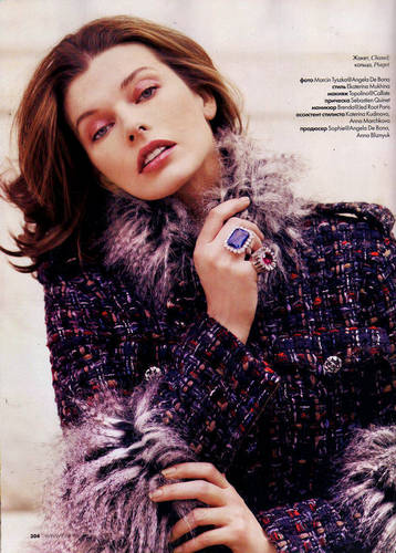 Milla in Elle Russia - November 2010