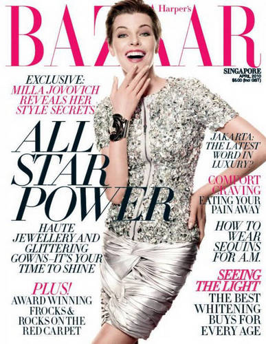 Milla in Harper's Bazaar Singapore - April 2010