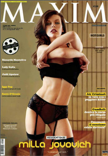 milla jovovich wallpaper containing a bikini, attractiveness, and skin called Milla in Maxim Italy - October 2009