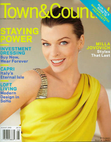 Milla Jovovich karatasi la kupamba ukuta with a portrait entitled Milla in Town & Country - August 2009