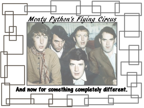 Monty Python wallpaper probably with a newspaper and anime entitled Monty Python's Flying Circus