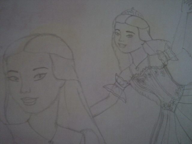 My cousin's artwork! CLARA of Nutcracker