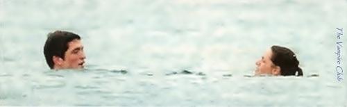 Robert Pattinson & Kristen Stewart wallpaper probably containing a water and a breaststroker called OK magazine (Nov/2010)
