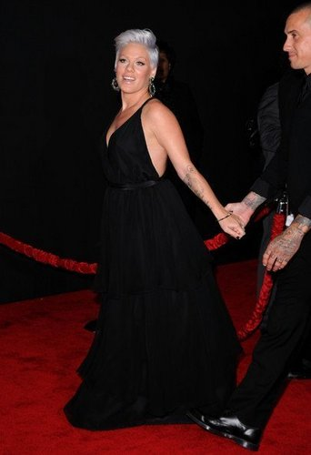P!nk at AMA's red carpet