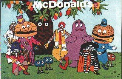 Painting of McDonaldland Characters