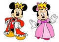 Prince Mickey and Princess Minnie - masquerade