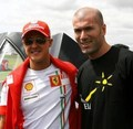 Schumi &  Zizou - michael-schumacher photo