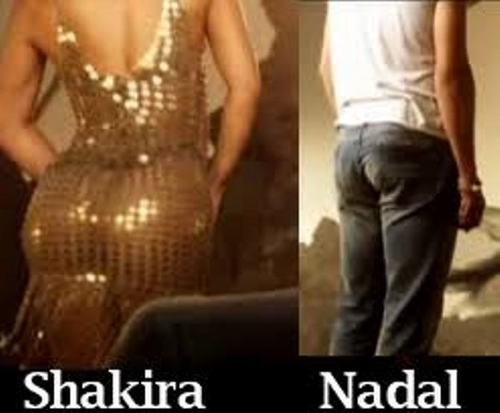 Shakira and Rafa ass:big and small !!