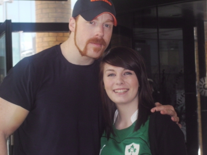 Sheamus with Żona