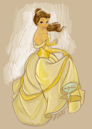 Simple Belle Sketch in Photoshop