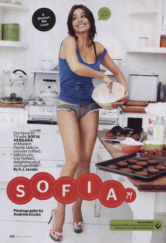 Sofia in Esquire - September 2010