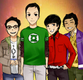 The Big Bang Theory door MachoMachi at DeviantART