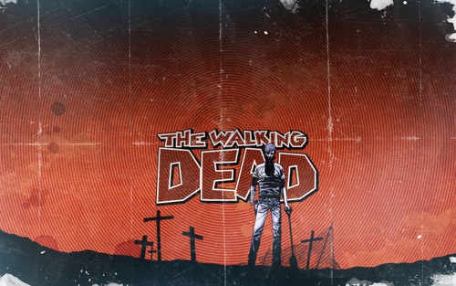ウォーキング・デッド 壁紙 possibly containing a sign entitled The Walking Dead Comic