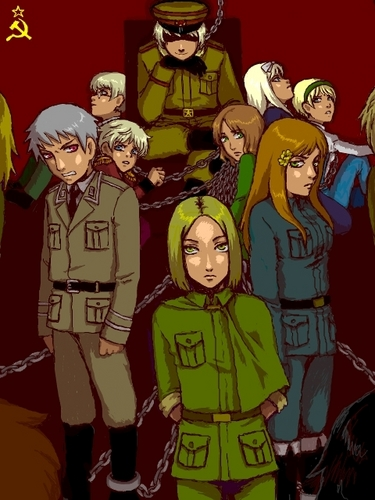 Hetalia wallpaper containing anime entitled Warsaw Pact