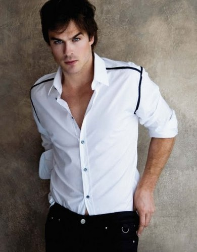 Damon Salvatore kertas dinding entitled ian somerhalder