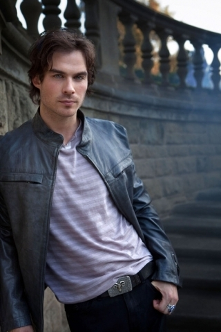 Damon Salvatore wallpaper with a street titled ian somerhalder