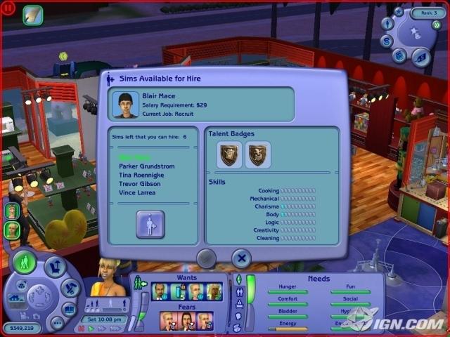 Sims 2 бизнес