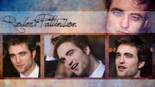 Robert Pattinson Hintergrund probably with a sign and a newspaper called rob