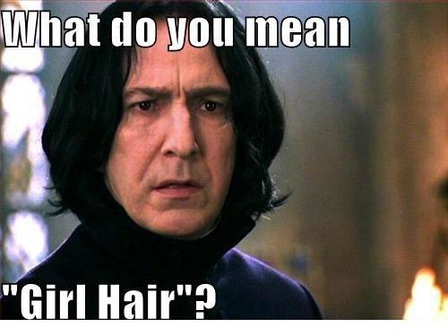 severus Snape hair ;)