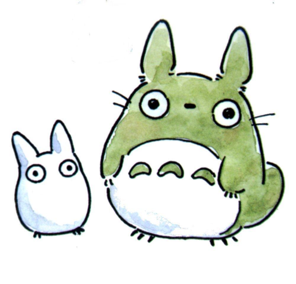 mochi eats mochi paints totoro and friend
