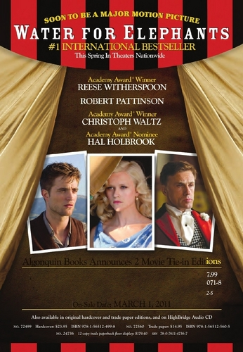 'Water For Elephants' Movie Tie-in Editions