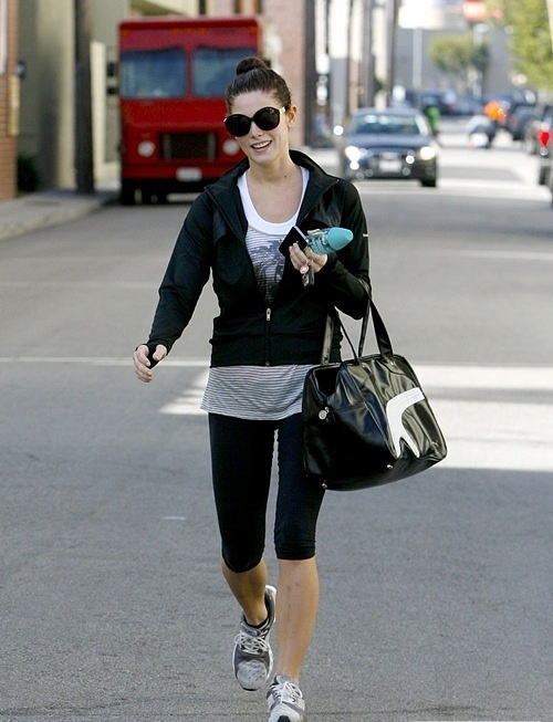 23.11 - Ashley after the gym in Studio City