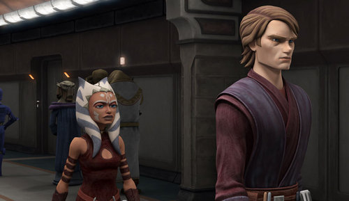 étoile, étoile, star Wars: Clone Wars fond d'écran titled Ahsoka and Anakin's new looks.