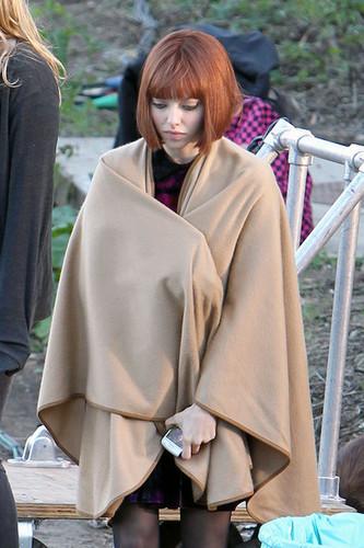 "Amanda on the set of ""Now"""