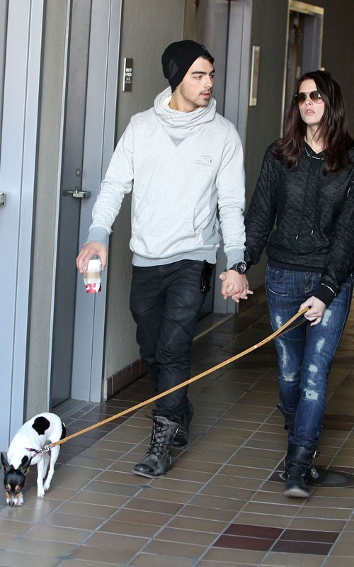 Ashley and Joe Jonas Dog walk in Los Angeles - November 24, 2010