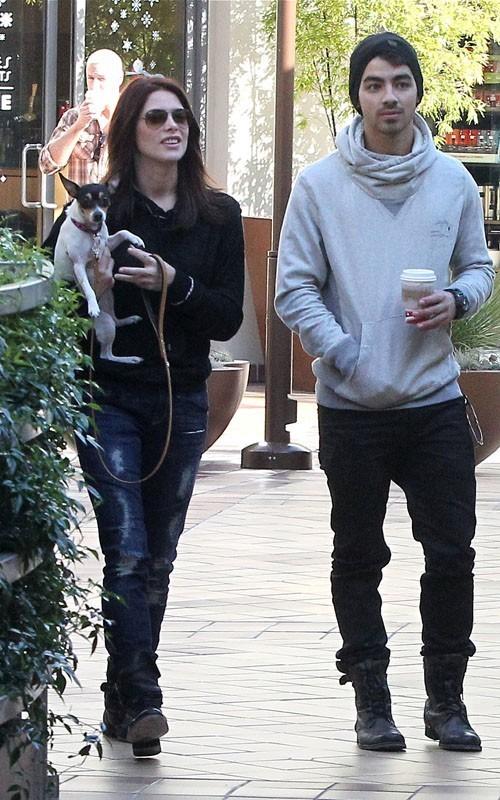 Ashley and Joe Jonas Dog walk in Los Angeles - November 24, 2010