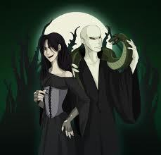 Bellatrix, Voldemort, and Nagini