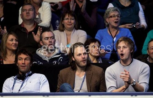 Bradley James & Rupert Young at the ATP World Tour Finals