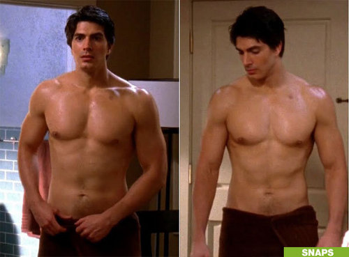 The Host wallpaper with a six pack, a hunk, and swimming trunks titled Brandon Routh as Kyle