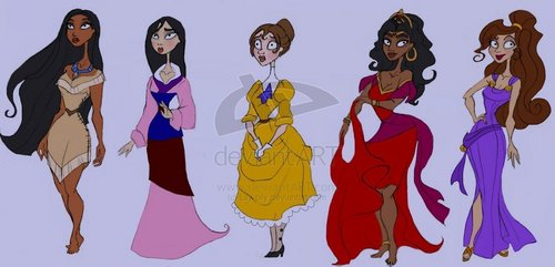 Burtonized Disney leading ladies