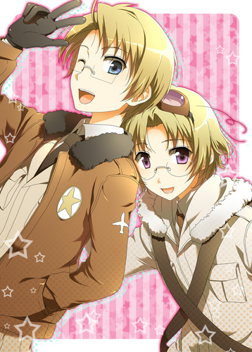 Hetalia wallpaper probably with anime entitled Canada America