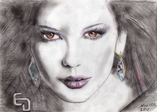 Catherine Zeta -Jones Portrait - catherine-zeta-jones Fan Art
