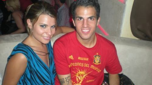 Cesc and a spanish porno étoile, star