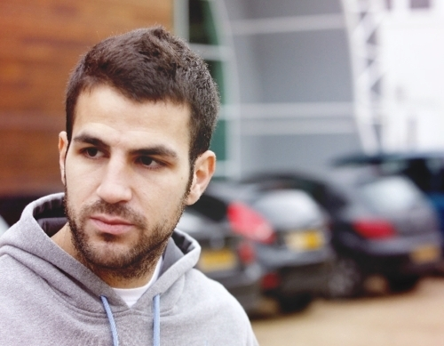 Cesc Fabregas 바탕화면 possibly with a 스웨트 셔츠, 셔츠 and a portrait titled Cesc at elmundo deportivo