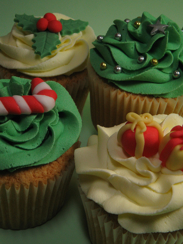 크리스마스 cupcakes:)