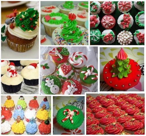 Christmas cupcakes:)