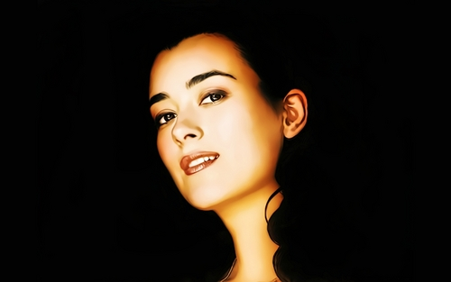 "Cote De Pablo ""Dark Beauty"""