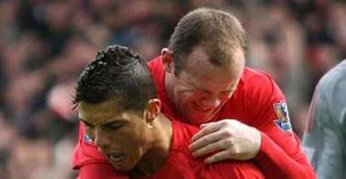 Cristiano Ronaldo and Rooney crying